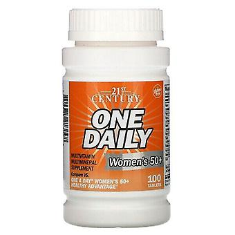 21st Century, One Daily, Women's 50+, Multivitamin Multimineral, 100 Tablets