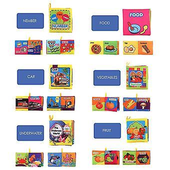 10 Трехмерные Детские книги ткань, раннее образование игрушки, дети Запос;s Слезоточивый доказательство и стиральные книги Palm