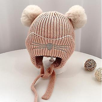 Chapeau d'hiver enfant en bas âge d'enfants, earflap tricot chaud chapeau fleece doublé beanie pour les filles de bébé garçons