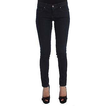 Costume National Blue Cotton Blend Slim Fit Jeans