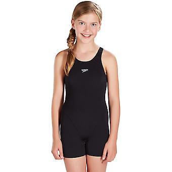Speedo Girls Essential Endurance Plus Legsuit - Black