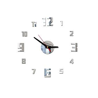 Mirror Surface Large Number Wall Clock Sticker, Home Decor, Living Room, Large