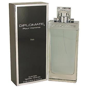 Diplomate Pour Homme Eau De Toilette Spray By Paris Bleu 3.3 oz Eau De Toilette Spray