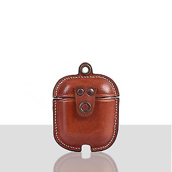 Marion veg tanned leather luxury protective cover case for apple airpods 1 & 2 personalize it