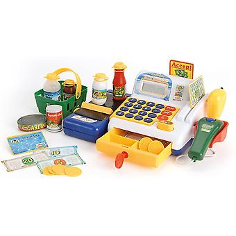 Toyrific Toy Till for Kids with Cashier, scanner, Toy Groceries and Play Money