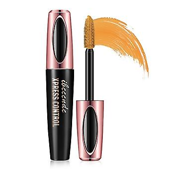 1pcs impermeable 4d maquillaje pestaña rímel pestaña maquillaje fibra de seda señoras