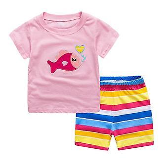 Children's Pijama Giyim Takımları - Çocuk Yaz Çizgi Film Pijamaları