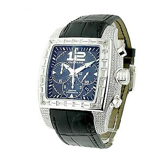 Chopard Two O Ten Blue Arabic-Index Dial Black Alligator Leather Automatic Men's Luxury Watch 172272-1001