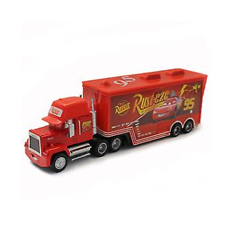 Carros Racing Car 95 Mcqueen Mack Trailer Container Children's Alloy Toy Car Model