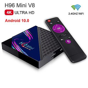 4K hd smart set-top box v8 rk3228a 2.4g wifi network media player tv box android home remote control 3d games