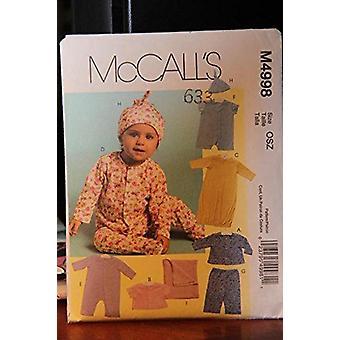 McCalls نمط الخياطة 4998 الطفل الرضيع سترة أعلى رومبر قبعة حجم S-XL UC