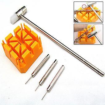 Klocka, Armband Länk Reparation Remover Tool, Hammare Punch Pins Rem Hållare Kit