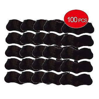 100Pcs bambou charbon de bois dissolvant masque points noirs taches acné masque masque nez autocollant nettoyeur pore bandes profondes propres