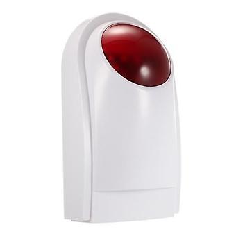 Langaton ääni Strobe Siren Alarm Host Flash Light Alarm Outdoor Vedenpitävä Yhteensopiva 433MHz kaukosäätimen, ovianturin, PIR-ilmaisimen kodin turvahälytysjärjestelmän kanssa