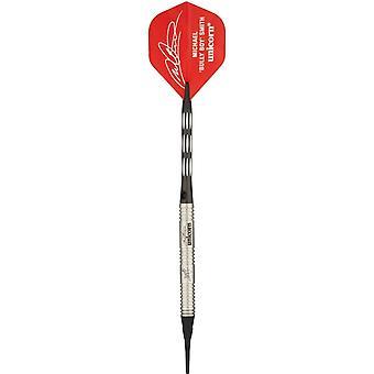 Unicorn Darts PDC Premier Michael Smith 90% Tungsten Pro Soft Tip Set With Case