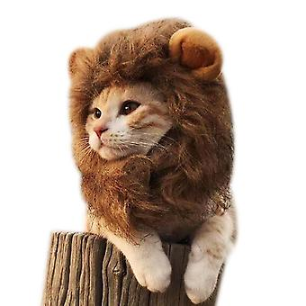 Cat Lion Headgear Funny Cat Cute Hat Pet Accessories