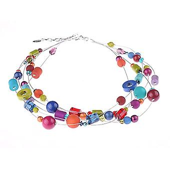 """by - """"Valeri"""" 5-wire necklace, mix of Polaris pearls and glass and acrylic, in many unusual colors and shapes, handmade by Ref. 425118863167"""
