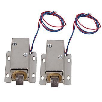 2 x prata 12V Fechaduras solenoides eletromagnéticas Conjunto TFS-A21 para Porta