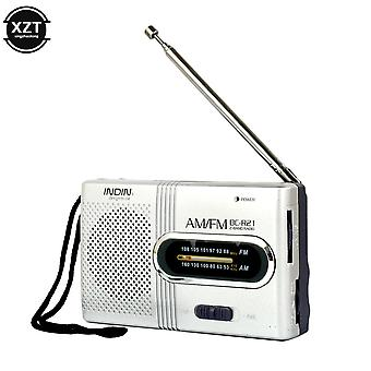 Mini Portable Radio Handheld Dual Band Am Fm Music Player Speaker With
