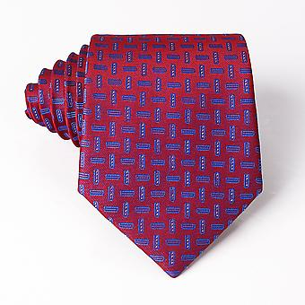 Classic Blue Black Red Necktie Men Formal  8cm Stripe Plaid Neck Ties