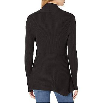 Marca - Daily Ritual Women's Ultra-Soft Ribbed Draped Cardigan Sweater