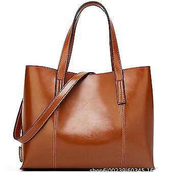 Öljyvaha nahka laukku yksinkertainen yhden olkapään messenger kannettava naaraslaukku