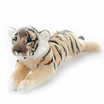 Biały tygrys pluszowa zabawka słodkie miękka lalka wypchane rysunek dla dzieci