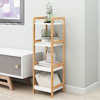 Support d'affichage de rangement carré en bois à 4 niveaux