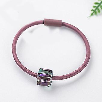 Kvinner Sateng Silke Solid Farge Scrunchie Elastisk Hårbånd