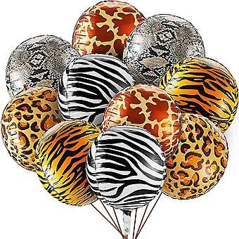 22 Zoll Große Tierdruck Folien Ballons Dschungel Luftballons 4D Wild Mylar Ballon Zebrastreifen