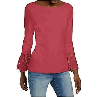 INC International Concepts Lace-Cuff Bell-Sleeve Sweater