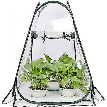 Mini Greenhouse Small Indoor Outdoor Gardening Flowerpot Cover Backyard Flower Shelter