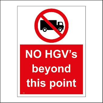 CS345 No HGV's Beyond This Point Sign with Circle Lorry Diagonal sign