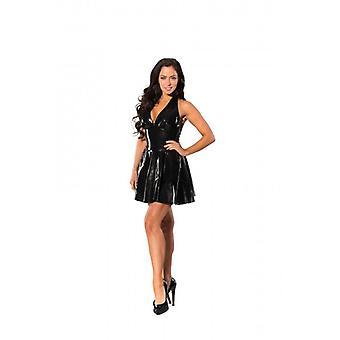 GP Datex Kleid mit Halternek - Schwarz