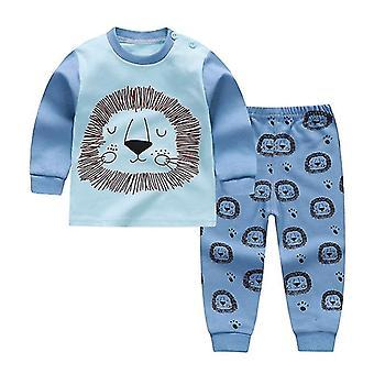 Herbst Frühling Cartoon Print Baby Pyjamas Sets Baumwolle Sleepwear Langarm