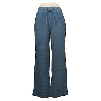 Denim &co. kvinners bukser (XXS) Naturals Crinkle Gauze Blå A379083