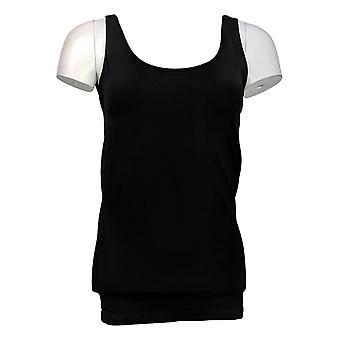 Rhonda Shear Plus Shaper Sem costura Tanque w/Prateleira Bra Black Shapewear 586034