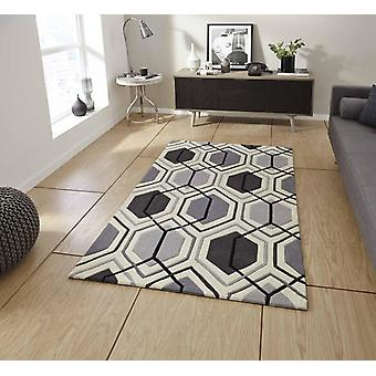 HK 7526 Grey  Rectangle Rugs Modern Rugs