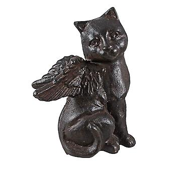 Чугуна кошка Ангел статуя фигура