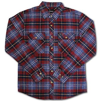 Brixton Bowery Flannel L/S Shirt Navy Plaid