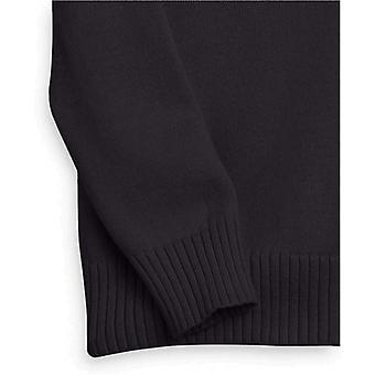 Essentials Suéter de cuello en V de manga larga 100% algodón para mujer