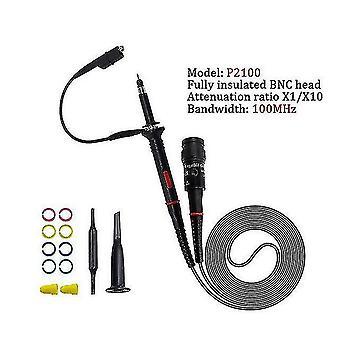 Metal detectors 1set high quality p6100 oscilloscope probe dc-6mhz dc-100mhz scope clip probe free shipping p2100
