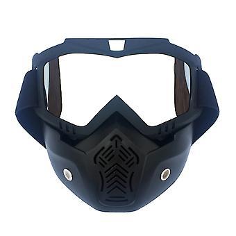 Winter Snow Sport Goggles Ski Snowboard Snowmobile Face Mask Sun Glasses Eyewear (matte Black Frame And Transparent Eyeglass)