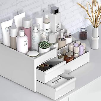 Meikki järjestäjä suuri kosmeettinen säilytyslaatikko valkoinen laatikko tyyppi näyttää koruja