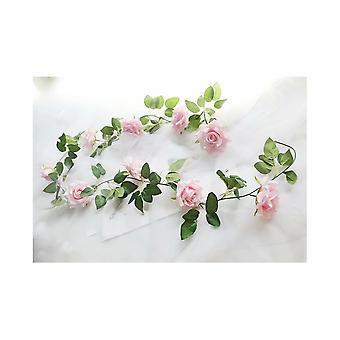 Vite di rosa artificiale, decorazione sinuosa di vite finta (rosa chiaro)