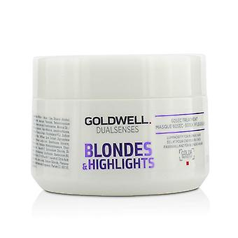 Goldwell Dual Senses Blondinen & Highlights 60sec Behandlung (Leuchtkraft für blondes Haar) - 200ml/6.8oz