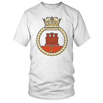 Royal Navy HMS Gibraltar PBS Mens T skjorte