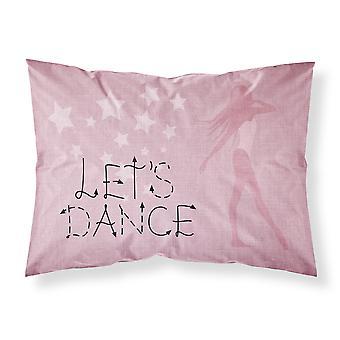 دعونا الرقص الكتان النسيج الوردي القياسية وسادة