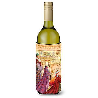 Christmas tre vismennene vin flaske drikke isolator Hugger