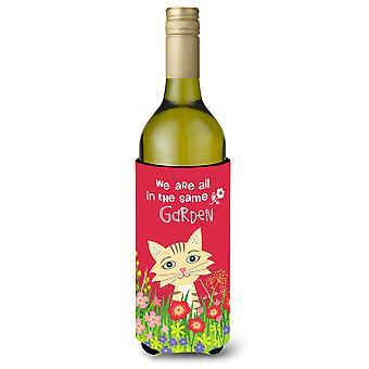 Garden Cat Wine Bottle beverage insulator Hugger